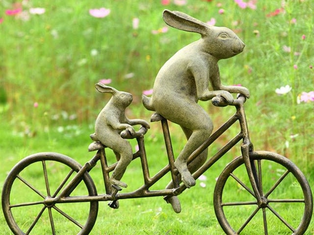 Tandem Bicycle Bunnies
